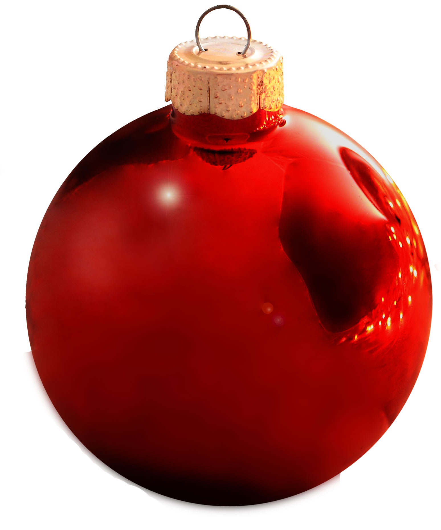 "6"" Christmas Red Ball Ornament"