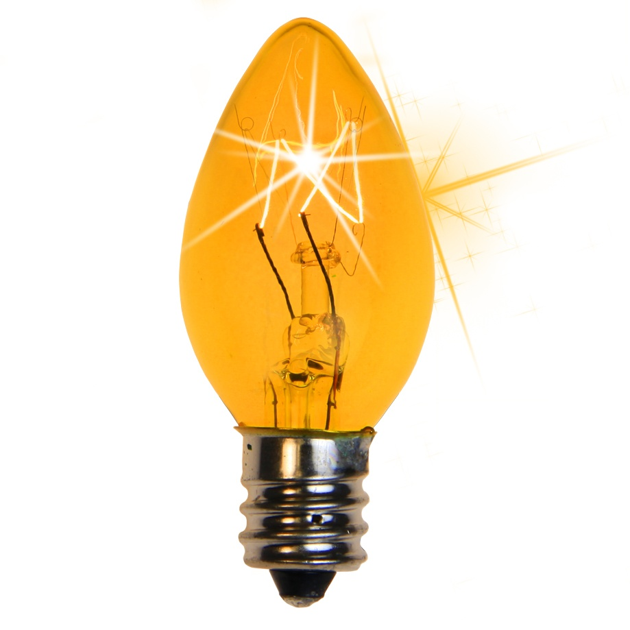 C christmas light bulb twinkle yellow