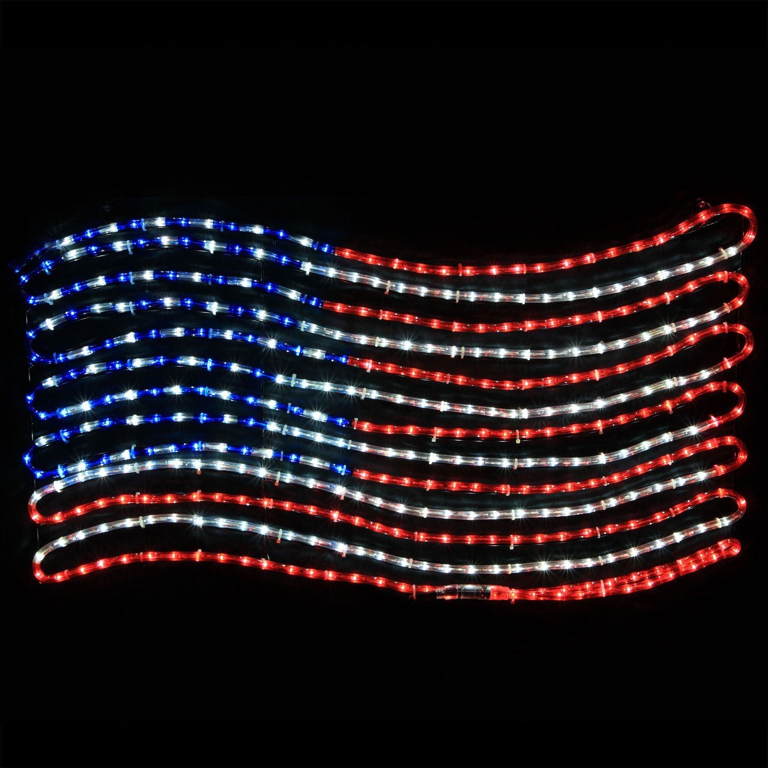 Patriotic String Lights Outdoor : Outdoor Decoration - Rope Light Patriotic Flag