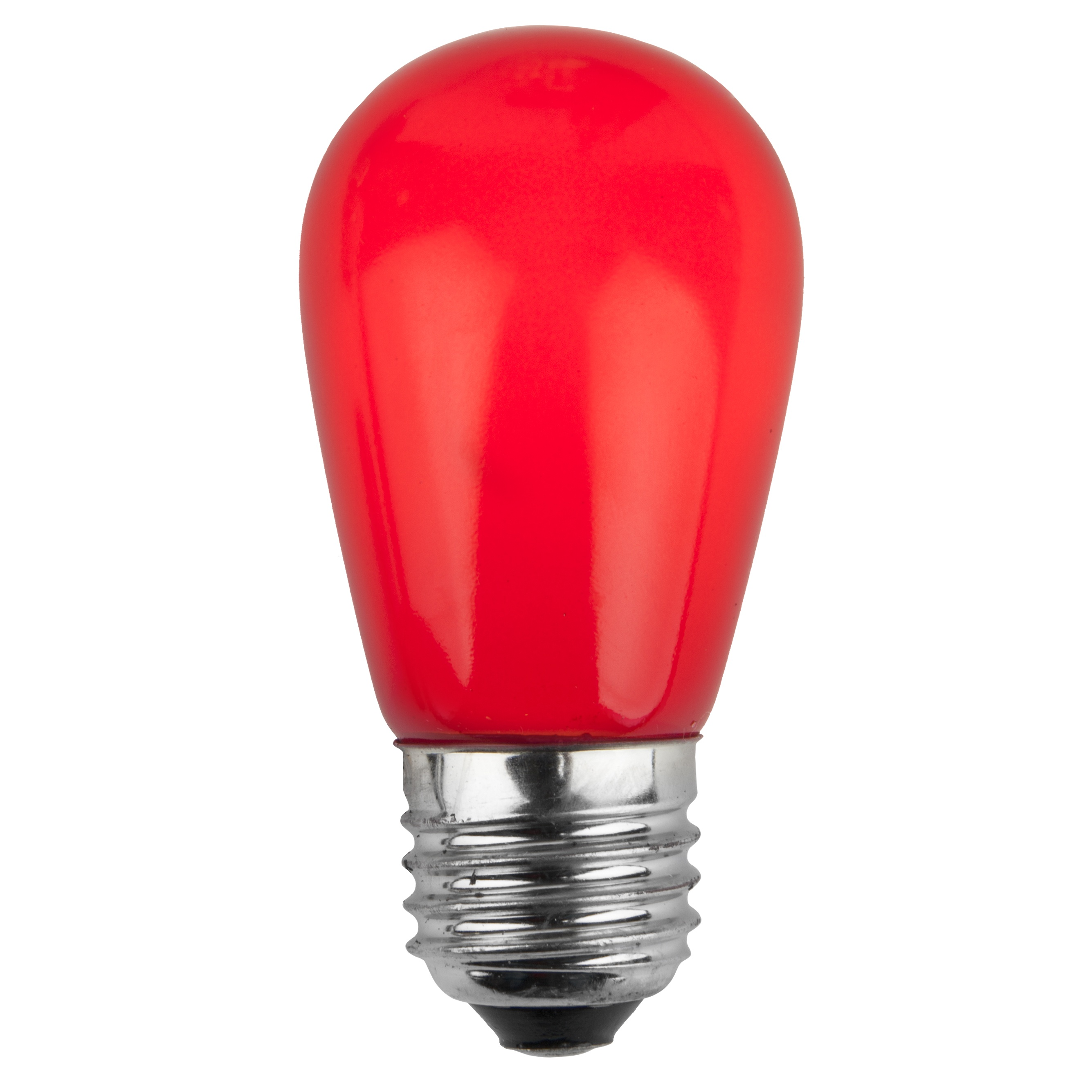 Christmas Lights S14 Opaque Red 11 Watt Replacement Bulbs