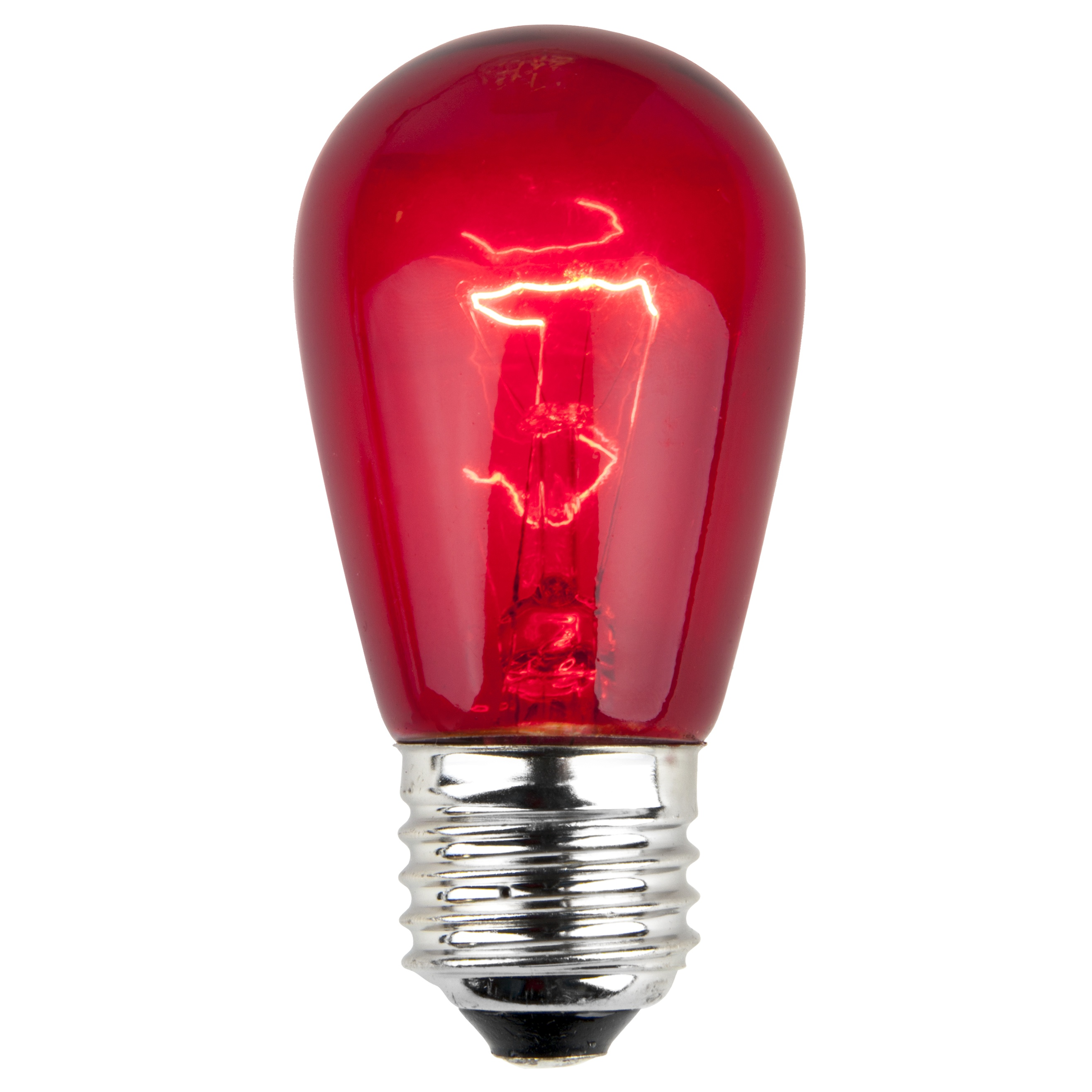 Christmas Lights S14 Triple Dipped Transparent Red 11