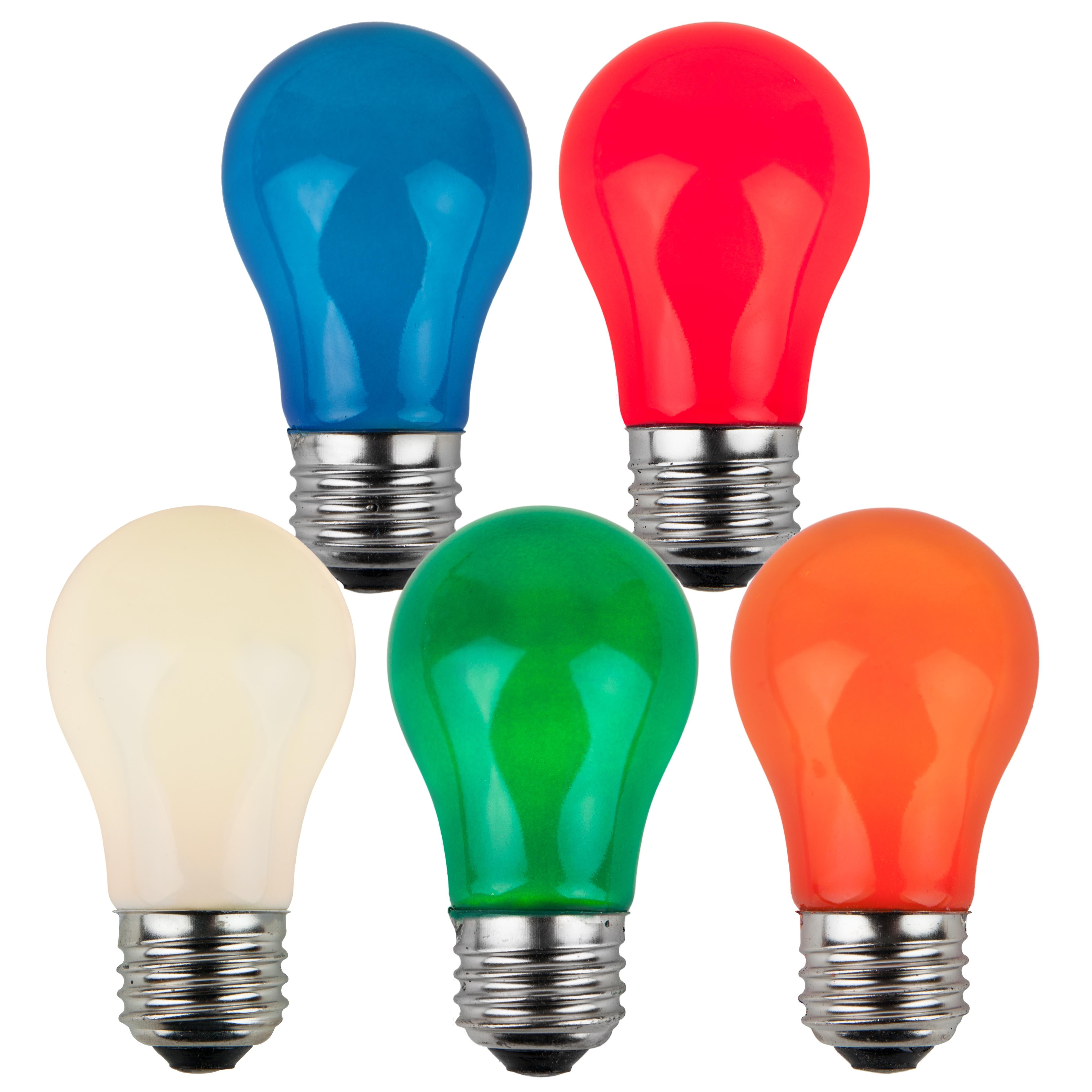 E26 Party And Sign Bulbs A15 Opaque Multicolor 15 Watt