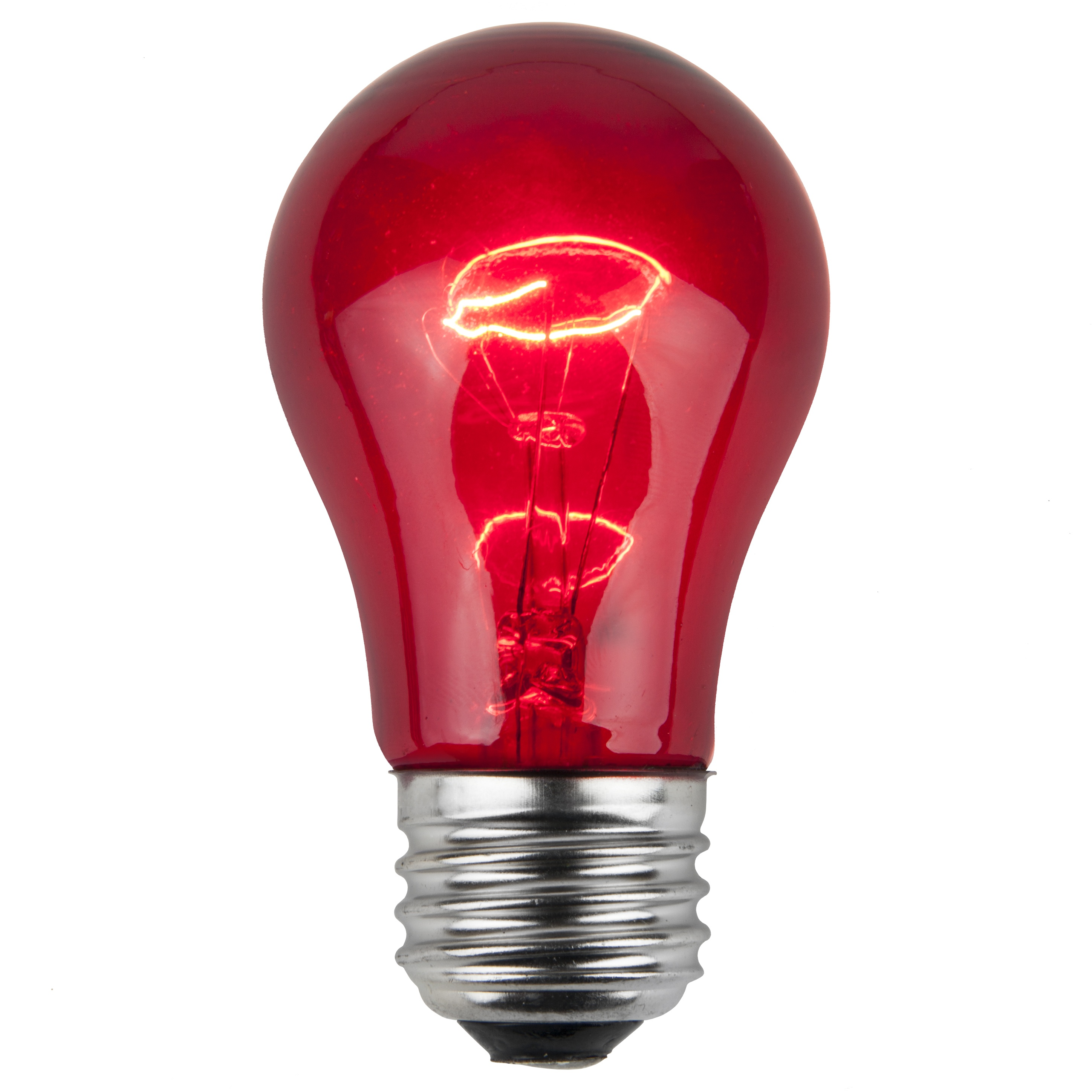 E26 Party And Sign Bulbs A15 Transparent Red 15 Watt