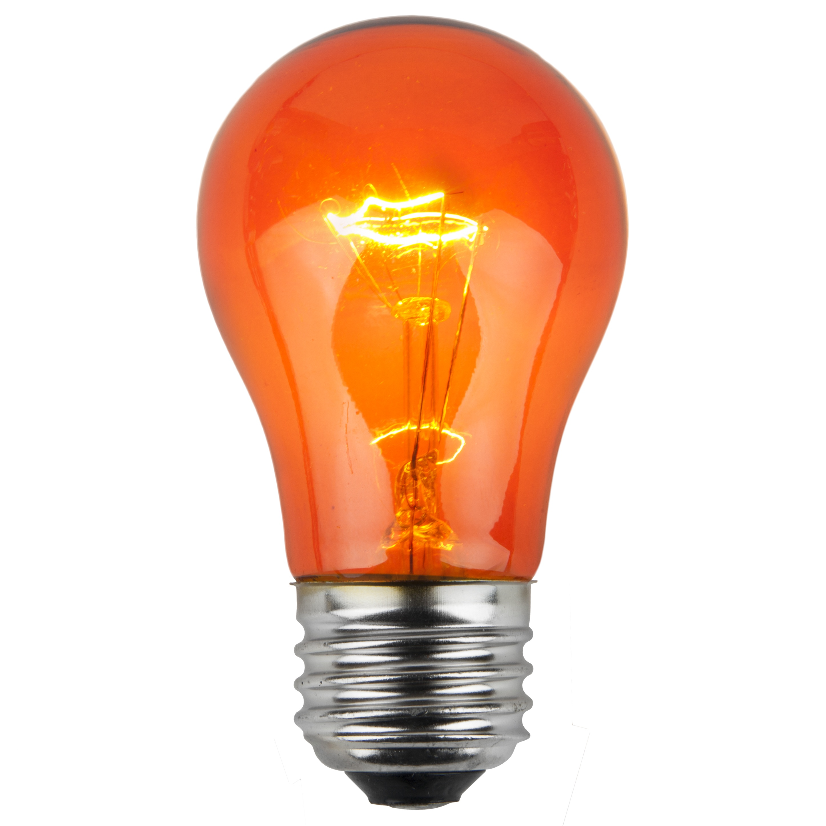 E26 Party And Sign Bulbs A15 Transparent Amber Orange
