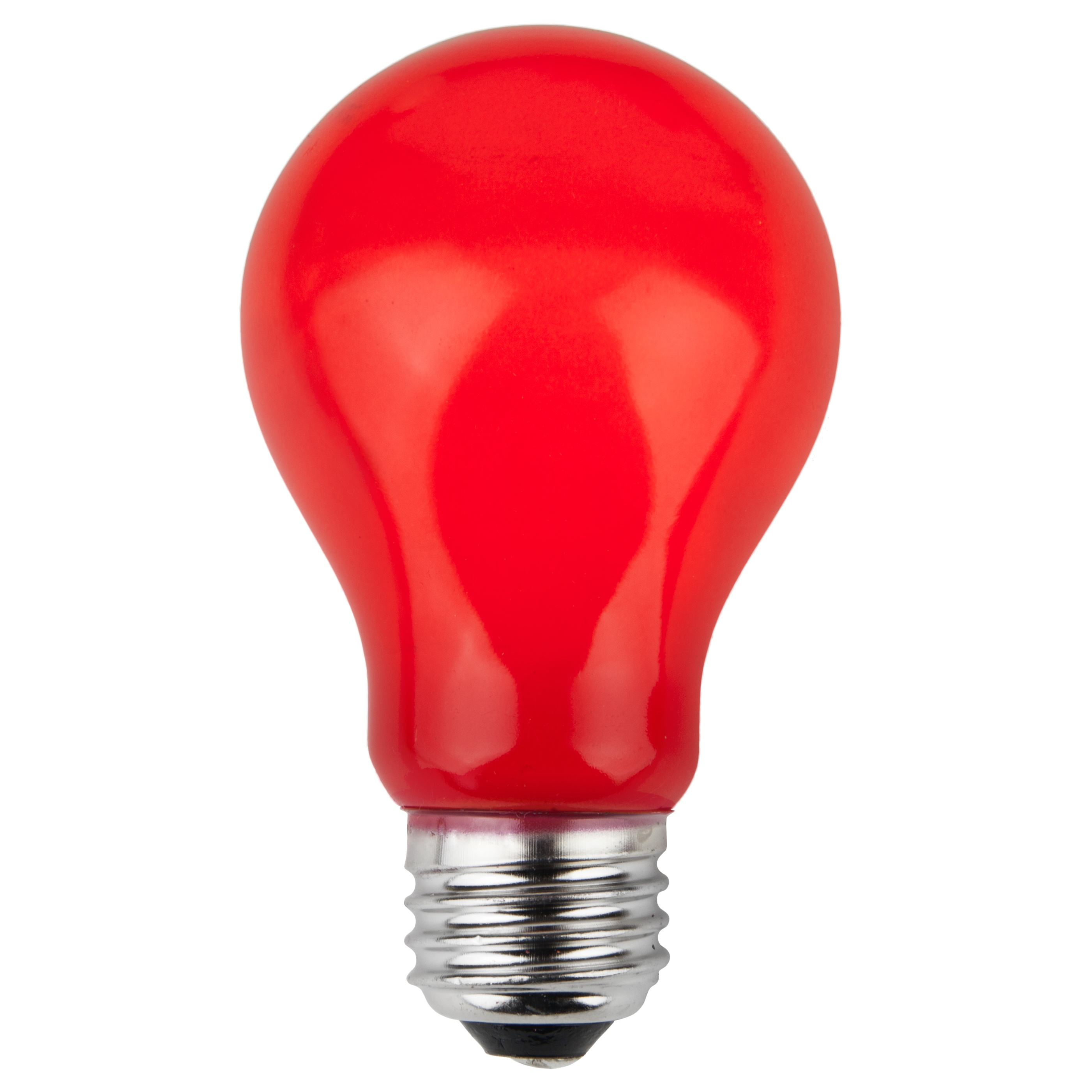 E26 Party And Sign Bulbs A19 Opaque Red 25 Watt