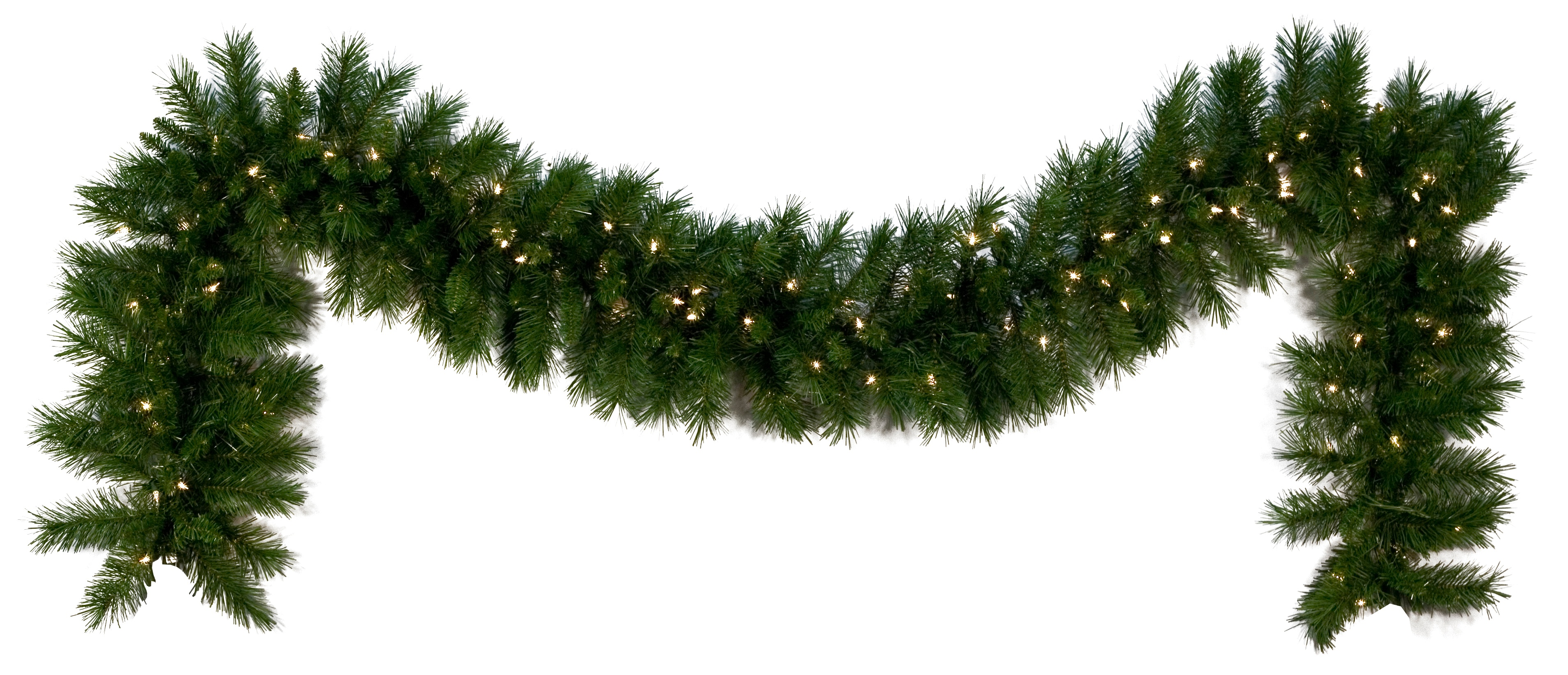 Lighted Christmas Garland - Dunhill Fir Prelit LED ...