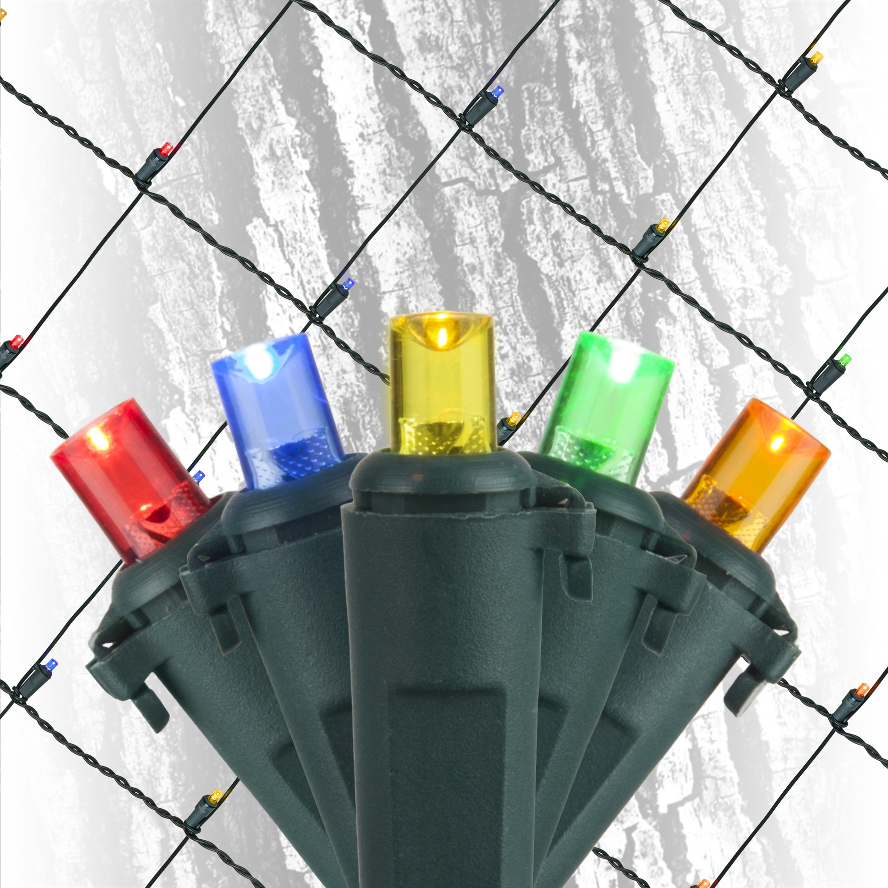 Led Net Lights Led Multi Colored 5mm Conical 100l 2 X6