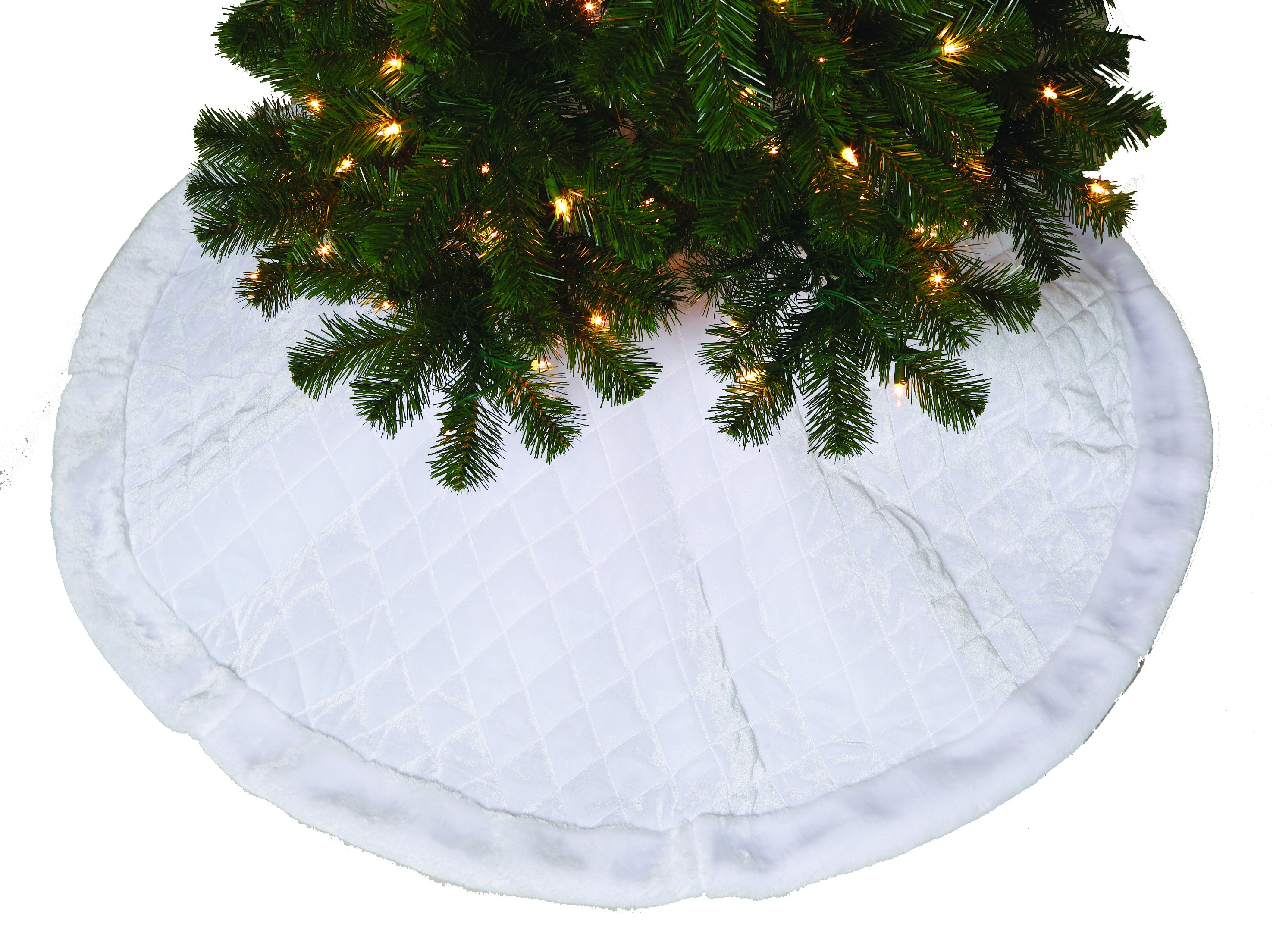 Tree Skirts 48 Quot White Quilted Tree Skirt