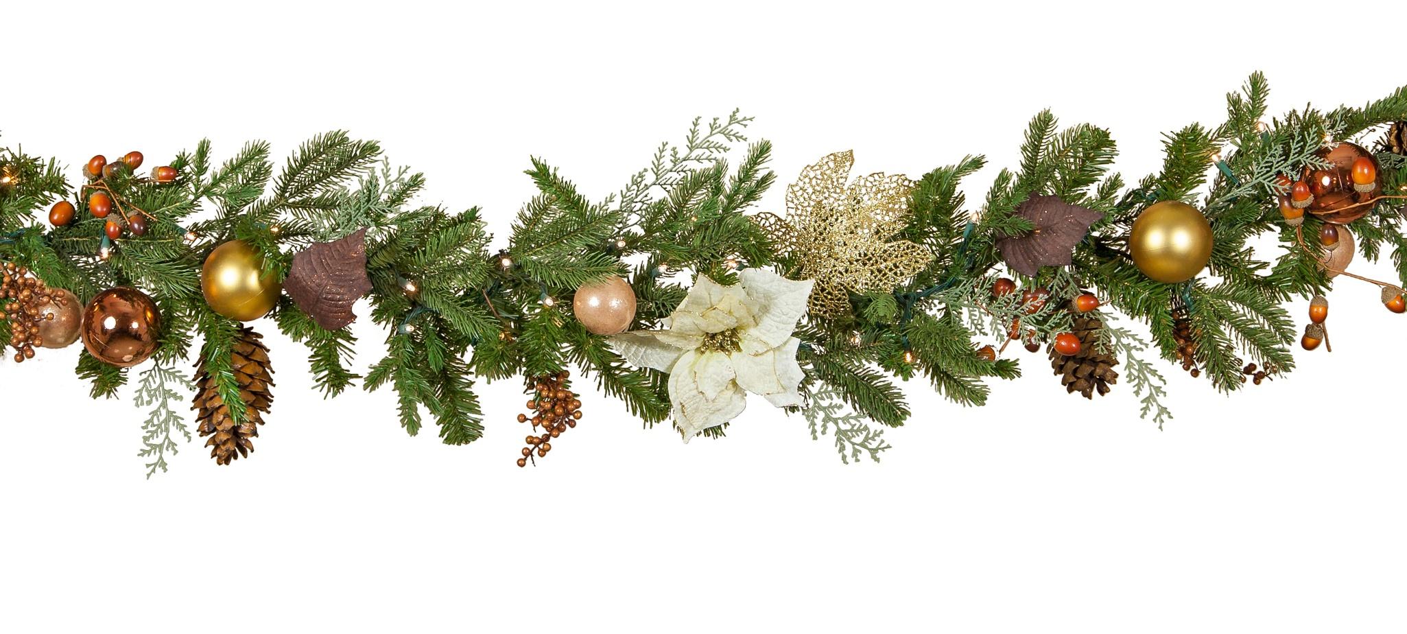 Vermont White Northeastern Christmas Garland