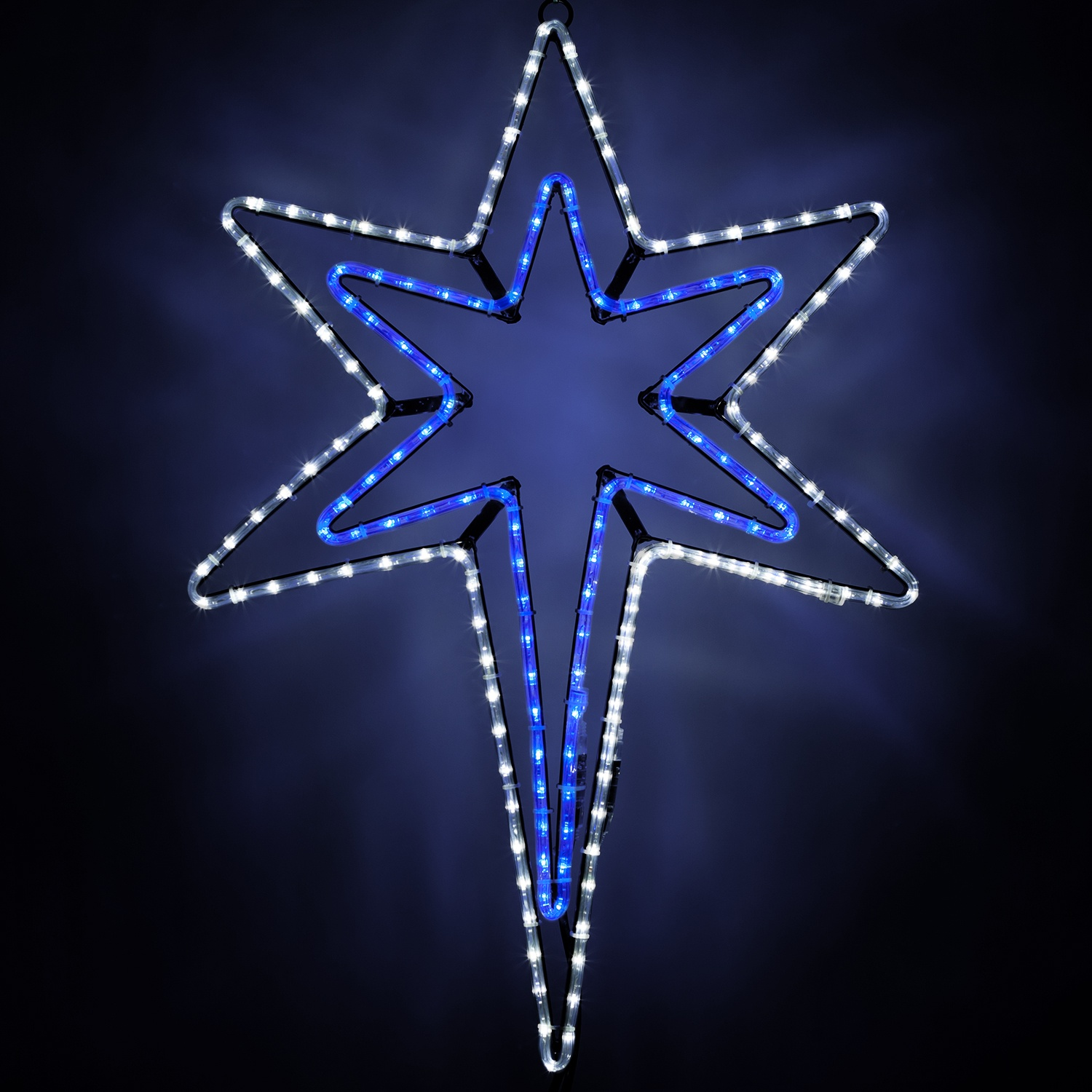 Snowflakes Amp Stars Led Bethlehem Star With A Blue Center