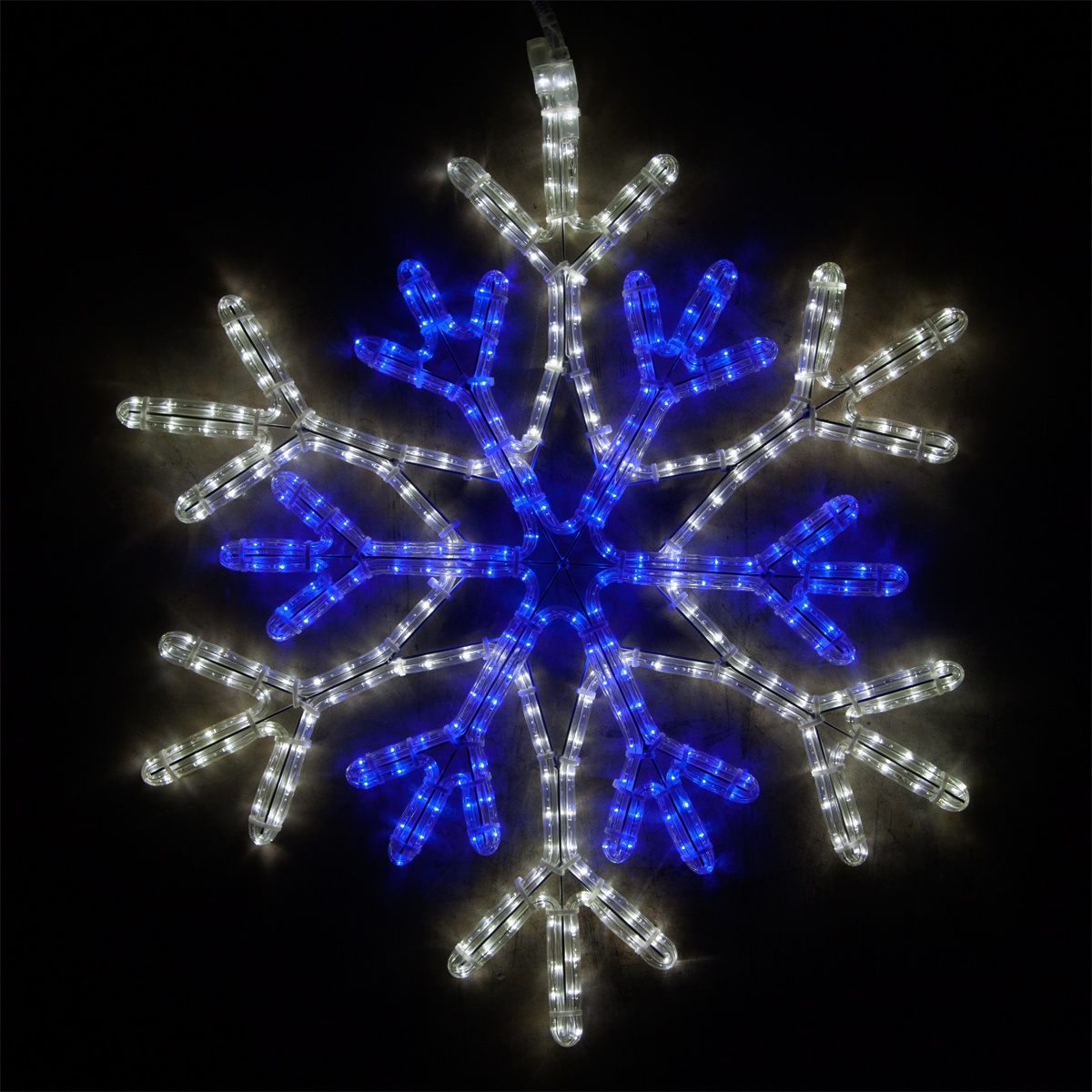 Snowflakes Amp Stars 28 Quot Led Blue And Cool White Snowflake