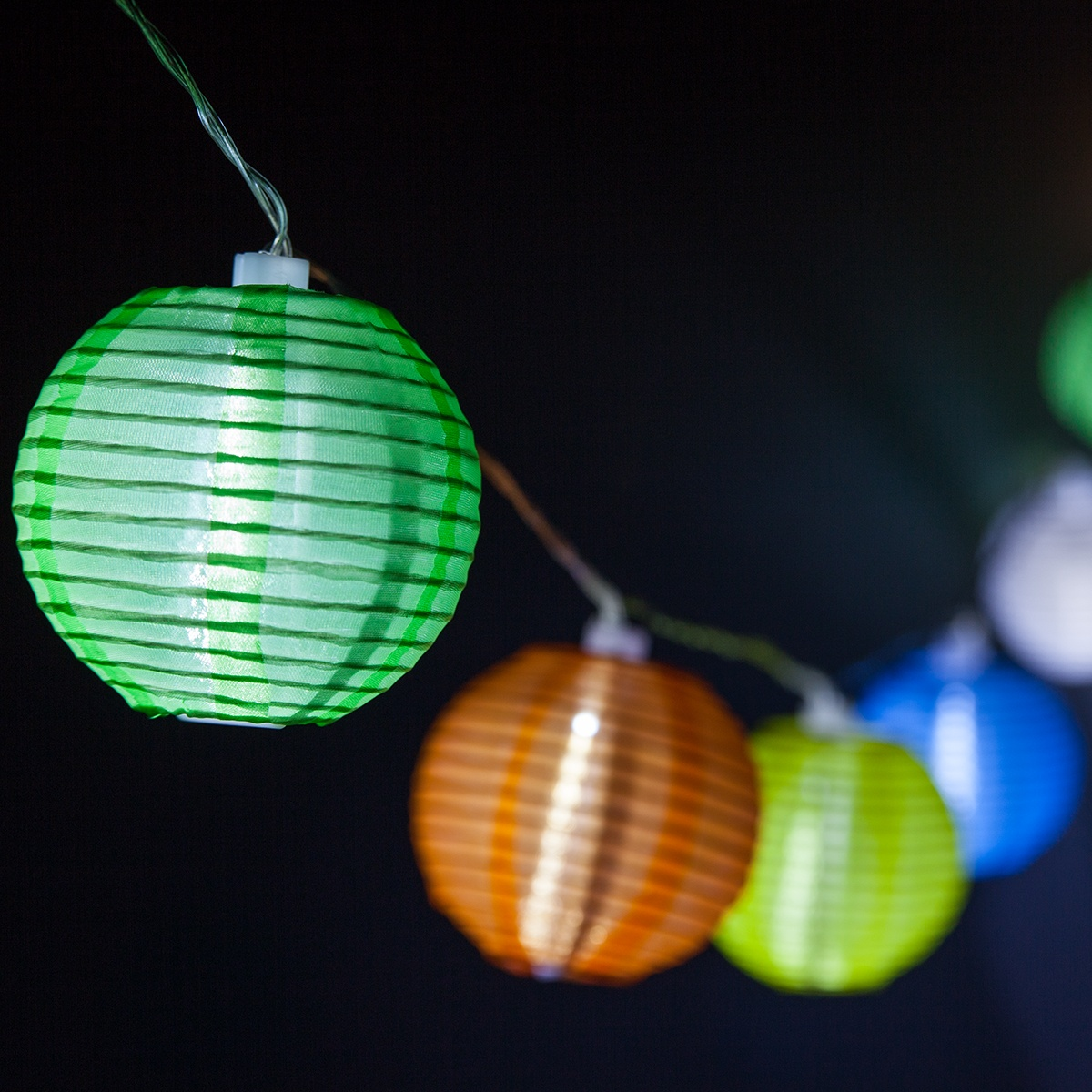 Multicolor Solar Lantern String Lights 2870