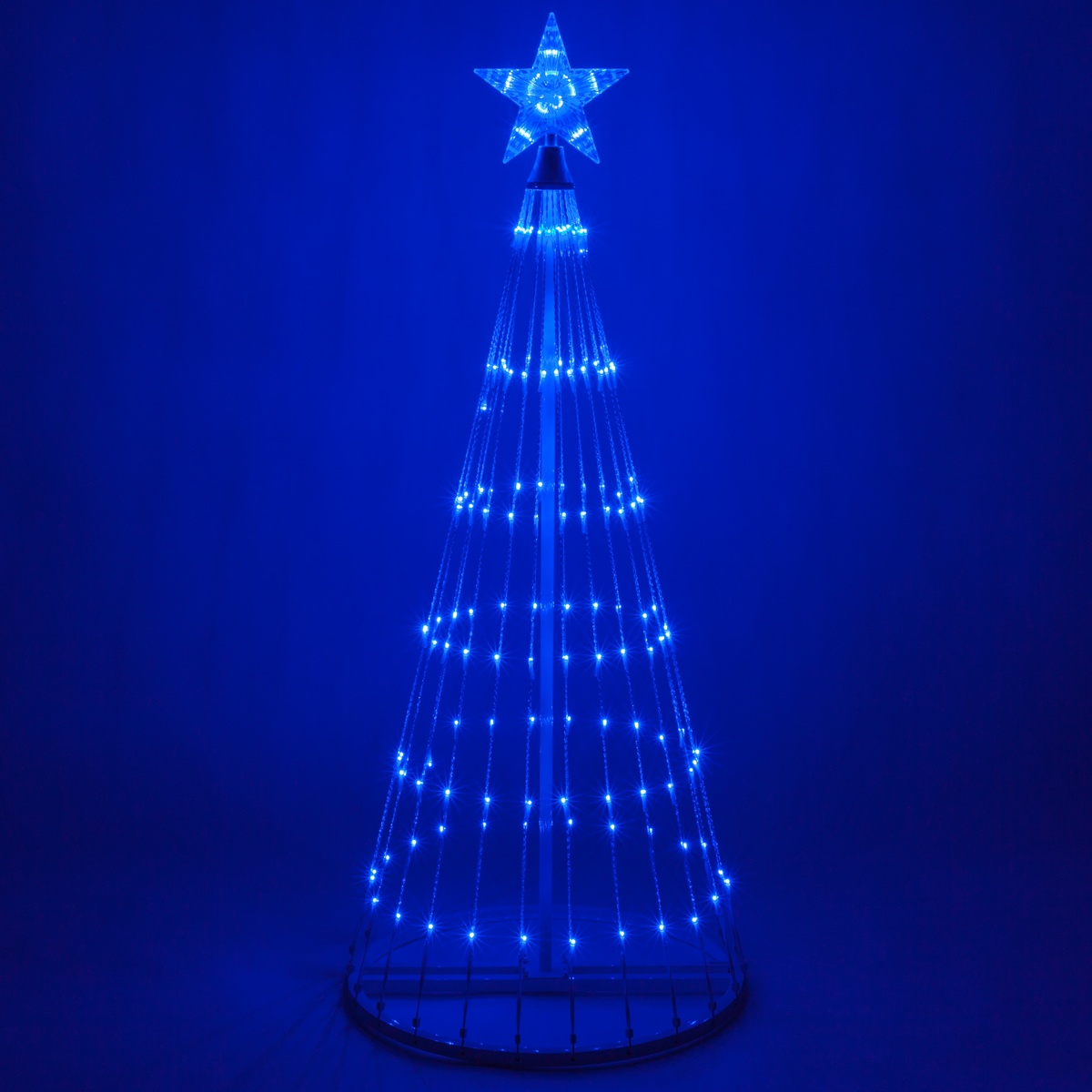 Blue led animated outdoor lightshow tree - Large bulb exterior christmas lights ...