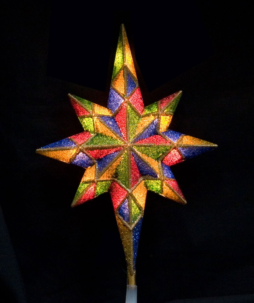 Star of bethlehem outdoor christmas decoration - Christmas Decorations 11 Mosaic Bethlehem Star Tree Topper