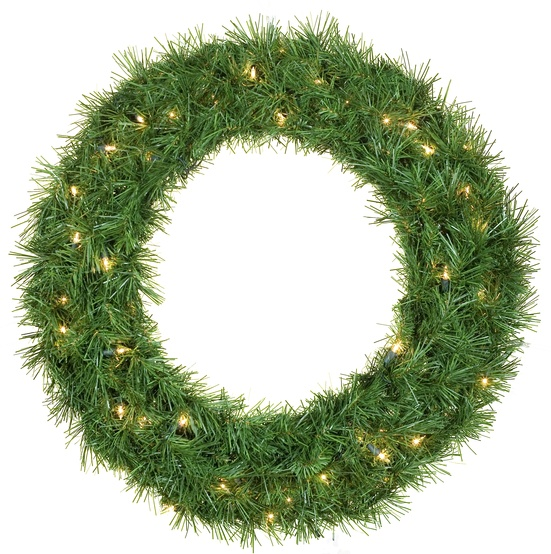 Dunhill Fir Prelit Christmas Wreath, Clear Lights