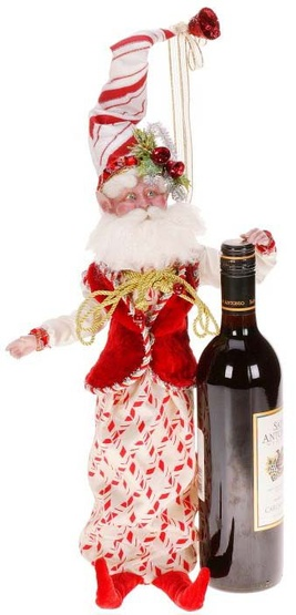 Candycane Fairy Wine Bottle Cover
