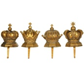 Crown Stocking Holders, 4 Piece Set