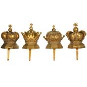 Crown Stocking Holders, 4 Piece Set