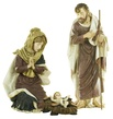 "50"" Polyresin Nativity Holy Family, 3 Piece Set"