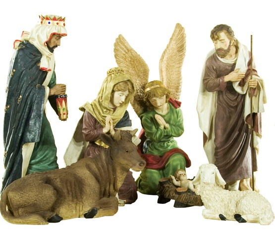 "36""H Christmas Nativity Scene Figures, 11 Piece Set"