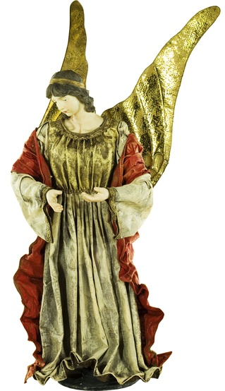 "40""H Polyresin and Fabric Christmas Nativity Set, 11 Piece Set"