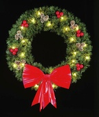 14' Rocky Mountain Pine Hanging Wreath, Clear Lamps