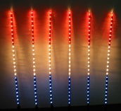 Patriotic Rope Light Garden Sticks, 6 Piece Set