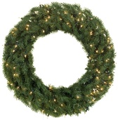 Balsam Fir Prelit Christmas Wreath, Clear Lights