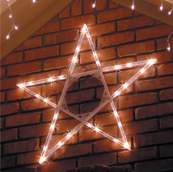 "50"" LED Folding Star Decoration, 70 Cool White Lights"