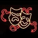 Comedy / Tragedy Mask Motif