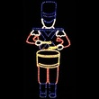 6' Toy Soldier w/ Drum Rope Light Decoration