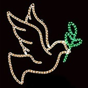 Dove With Branch Motif