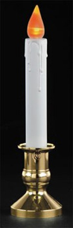 "8"" Wireless Battery Powered LED Flicker Candle w/Light Sensor"