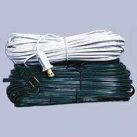 SPT2 100' White Wire With Male Plug