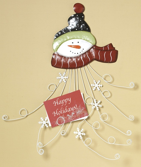 Santa Metal Christmas Card Holder, 28""