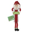 Fabric and Wooden Santa Card Holder, 30""
