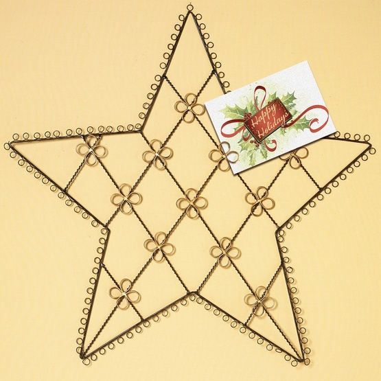 Metal Wire Star Card Holder
