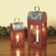 "7"" Candle in Electric Wood Lantern"