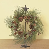Extendable Floor Cast Iron Star Wreath Holder