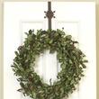 Rustic Brown Metal Snowflake Over Door Wreath Hanger