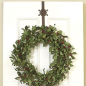 Rustic Brown Metal Snowflake Over Door Wreath Hanger