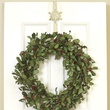 Rustic White Snowflake Over Door Wreath Hanger