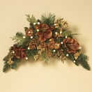 Gilded Prelit LED Swag Christmas Garland, Warm White Lights