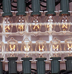 25 C9 Clear Christmas Lights