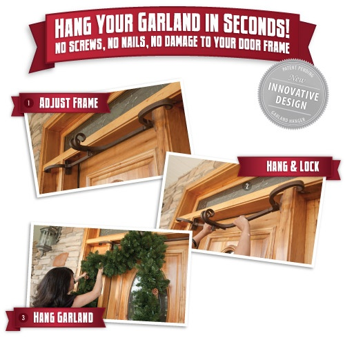 Double Door Garland Hanger