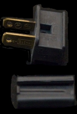 Male Zip Plug SPT2 Polarized Male Plug, Black