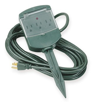 3-Outlet Yard Power Stake (Not surge protected)