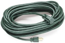 40' Green Medium Duty Extension Cord, 13 Amp with Male Plug, Indoor / Outdoor Use