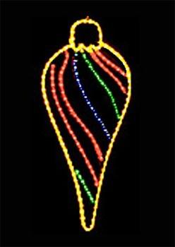 3' Fancy Drop Ornament