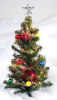 "24"" Deco Tree With Red Border"